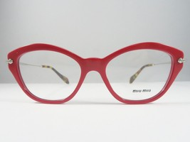 1b79cfbec79 Miu Miu VMU 02O UA4-1O1 Red   Silver   Havana New Authentic Eyeglasses 5