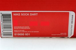 Dart Sock 819686 SZ Nike Men's Gym Red White 601 12 Black d5w7gx7q