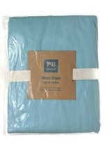 "Pottery Barn Teen Light Blue Twill Metro Drape Curtain 1 Panel 50x84"" New - $25.73"