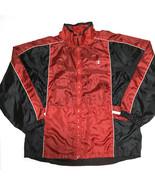 Champion Mens Jacket Windbreaker Black Red Size XL Water Repellent - $28.48