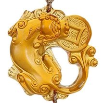Chinoiserie Car Pendant Coloured Glaze Car Pendant(Amber)
