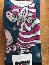 Disney Alice In Wonderland Cheshire Cat Womens Shoe Liner Socks 3 pairs ... - $16.82
