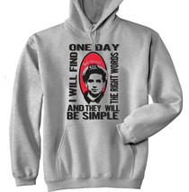 Jack Kerouac The Right Words - New Cotton Grey Hoodie - $40.66