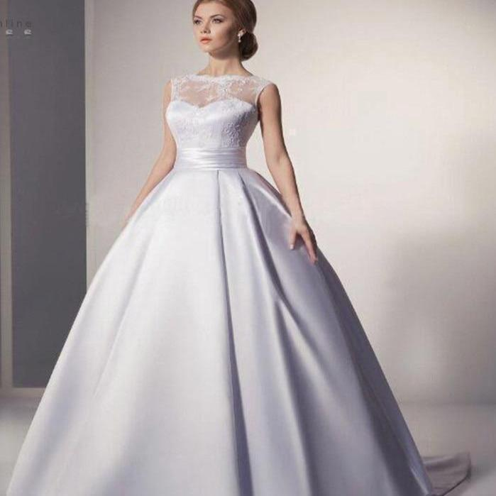 C lace ivory white ball gown wedding dress vestido de noiva sexy illusion wedding gowns backless