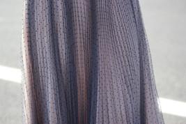 Black Polka Dot Tulle Skirt Black Pleated Tulle Midi Skirt image 11