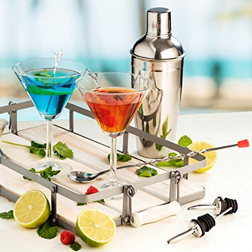 FineDine Expert Cocktail Shaker Home Bar Tool Set Stainless Steel Bar Set with S