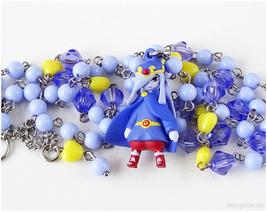 Zelda no Densetsu Vaati Figure Necklace, Pastel Periwinkle, Silver, Gamer Girl - $29.00