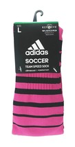 ADIDAS Climacool Repreve Soccer Socks sz L Large (10-12) Pink Black - $17.30