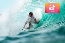 Waves Wallpaper Waves JPEG file - file to download  - $0.55