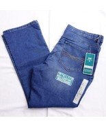 Lee Platinum Relaxed Fit Blue Denim Jeans Boot Cut Womens Sz 18 Short New - $29.02