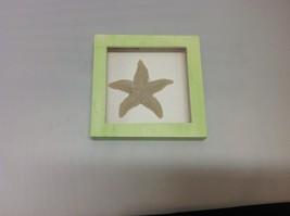 NEW Green and Brown Resin Starfish Shadow Box