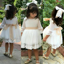Flower Girl Princess Dress Kids Baby Party Wedding Bridesmaid Tulle Tutu... - $20.80