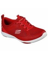 Skechers Red Shoes Memory Foam Women Slip On Comfort Casual Sport Walkin... - $49.79