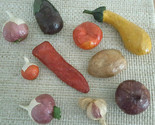 Home Decor Decorative Vegetables Realistic Paper Mache Lot of 10 Staging