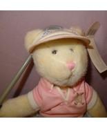 RUSS Ladies Country Club  Bear BIRDIE Female PINK Golfer Golfing Plush T... - $25.25