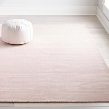 Crate and Barrel 5x8 8x10 9x12 Mirage Light Pink Handmade Wool Area rug ... - $248.00+