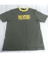 Gap Womens Green and Yellow Crew Neck Las Vegas The City of Lights T shi... - $19.79