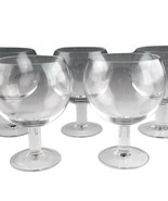 6 TIFFANY & COMPANY Clear Plain Brandy Glasses Snifters - $79.19