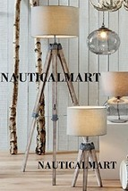 Wooden Tripod Table Lamp Classical Industrial Floor Lamp- Set Of Two - $266.31