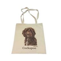 COCKAPOO Hunde Waggy Dogz 100% Baumwolltasche Cloth Einkaufstasche 41 x ... - $10.89