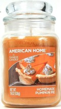 1 American Home By Yankee Candle 19 Oz Homemade Pumpkin Pie Glass Jar Candle - $26.99