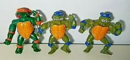 TMNT Lot Of 3  Wind Up Arms Teenage Mutant Ninja Turtles Vintage 1989 - $18.99