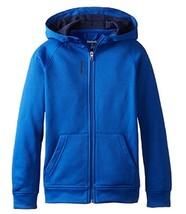 Reebok Boys' Pieced Zip Up Hoodie, QBF52144, Collegiate Blue, Size 4,MSRP $42 - $21.77