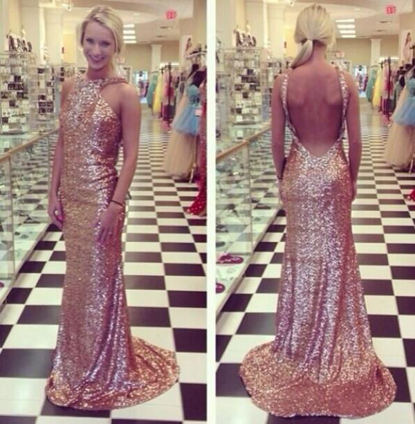 long Evening Dress,sequin Prom Dress,backless prom dress,sparkle prom dresses