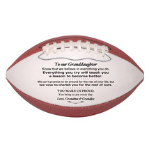 Custom Mini Football To Our Granddaughter Graduation, Birthday, Christmas Gift - $34.95