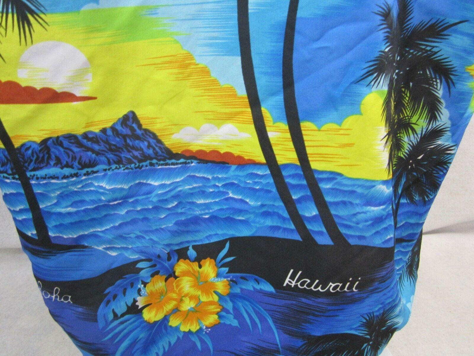 "ROYAL CREATIONS vintage 1990s Men Hawaiian ALOHA shirt XL 26"" p2p luau camp tiki"