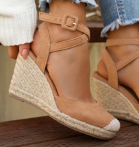 Tan Closed Toe Espadrille - $29.99