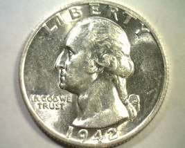 1942-S WASHINGTON QUARTER CHOICE ABOUT UNCIRCULATED+ CH. AU+ NICE ORIGIN... - $58.00