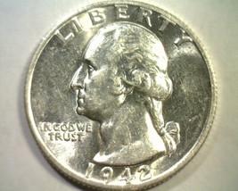 1942-S WASHINGTON QUARTER CHOICE ABOUT UNCIRCULATED+ CH. AU+ NICE ORIGIN... - $58.00