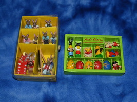 KEIN SPIELZEUG WOOD EASTER ORNAMENTS AND A FEW CHRISTMAS ORNAMENTS TROKE... - $40.00