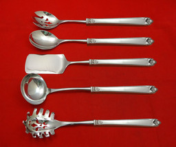 George II Rex Hand Chased by Watson Sterling Hostess Set 5pc HHWS  Custom Made - $359.00
