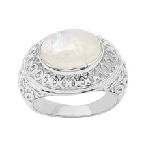 4.5 Ct Rainbow Moonstone Newly Gemstone 925 Sterling Silver Ring Size-7 ... - £14.92 GBP