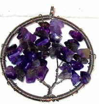 Tree of Life Pendant natural Amethyst  20.00 carats MOTHER'S DAY - $21.90