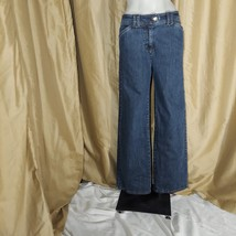JONES NEW YORK BLUE WIDE LEG JEANS SIZE 4 - $14.00