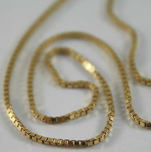 SOLID 18K YELLOW GOLD CHAIN NECKLACE WITH VENETIAN LINK 17.71 INCH MADE ... - $525.00