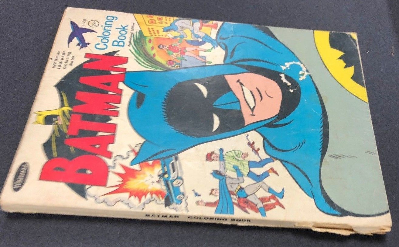 BATMAN Coloring Book 1966 Whitman And 50 Similar Items