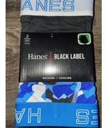 Hanes ~ 2-Pack Mens Trunks Underwear Black Label Cooling Cotton Blend (D... - $16.82