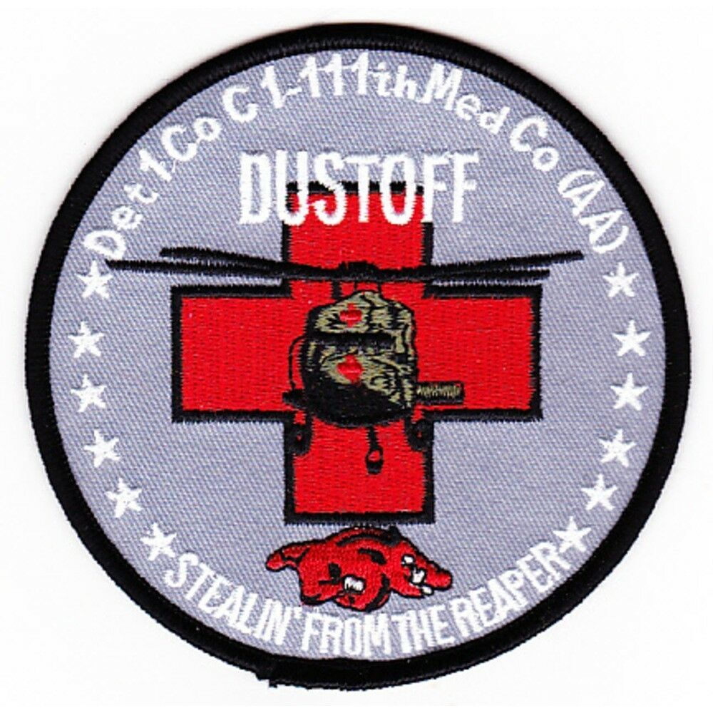 Primary image for US Army 111th Aviation Air Ambulance Regiment Dustoff Razorback MEDEVAC Patch