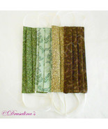 Face Mask Handmade Adult Lot Cloth Washable Brown, Beige, Green, - Set of 4 - $9.99