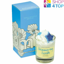 SHIMMERING SANDS PIPED CANDLE BOMB COSMETICS COCONUT BEACHY OZONIC SCENT... - $14.84
