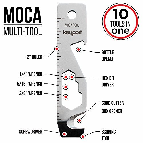 Keyport MOCA 10-In-1 Key Tool - Keychain Multi-Tool Bottle Opener - Screwdriver