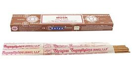 ABN Fashion Satya Musk Sticks Incense Natural Fragrance Hand Rolled Indian Agarb - $11.71