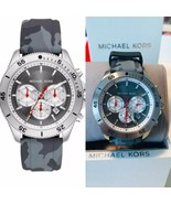 New Michael Kors Men's Theroux Chronograph Camo Silicone Watch MK8710 $250 - $128.68