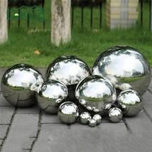 Stainless Steel Ball High Gloss Glitter Sphere Mirror Hollow Home Garden... - $7.21+