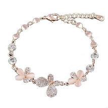 Bracelet Heart-shaped Rose Gold Bracelet Hand Jewelry Fashion Jewelry Amethyst