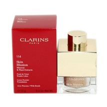 Clarins Skin Illusion Loose Powder Foundation With Brush 13G #114 - Cappuccino - $32.18